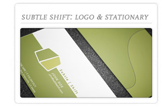 Subtle Shift Logo & Stationary