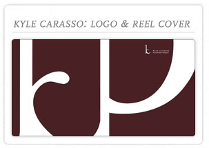 Kyle Carasso DVD reel cover, logo & busniness card