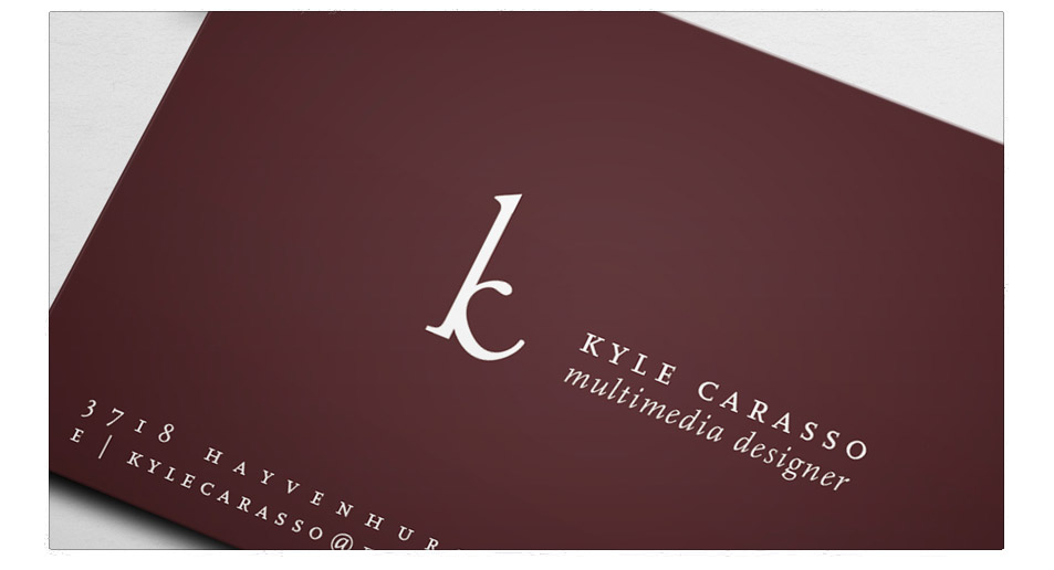 Kyle Carasso Corporate Identity, DVD & Business Card