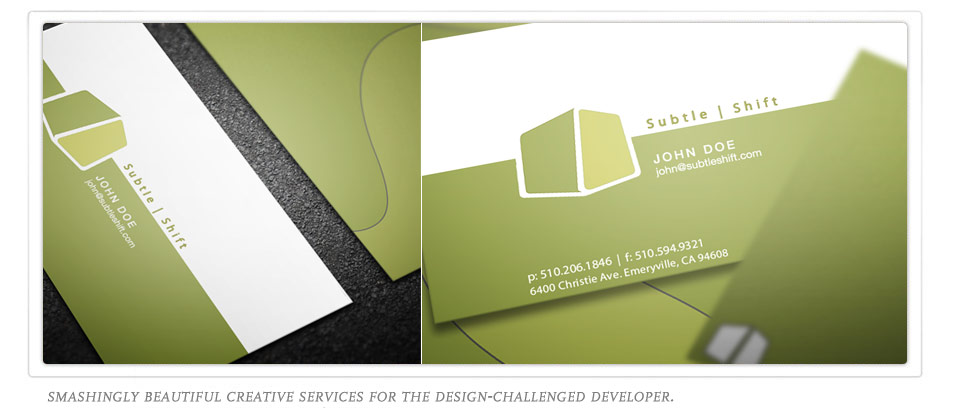 Subtle Shift Logo Design and Stationary. Click Here to see the work.